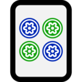 Mahjong Tile Four of Circles on Microsoft Windows 10 October 2018 Update