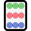 Mahjong Tile Nine of Circles on Microsoft Windows 10 October 2018 Update