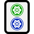 Mahjong Tile Two of Circles on Microsoft Windows 10 October 2018 Update