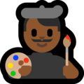 Man Artist: Medium-Dark Skin Tone on Microsoft Windows 10 October 2018 Update