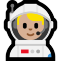 Man Astronaut: Medium-Light Skin Tone on Microsoft Windows 10 October 2018 Update