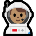 Man Astronaut: Medium Skin Tone on Microsoft Windows 10 October 2018 Update