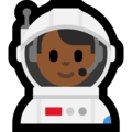 Man Astronaut: Medium-Dark Skin Tone on Microsoft Windows 10 October 2018 Update