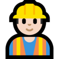 Man Construction Worker: Light Skin Tone on Microsoft Windows 10 October 2018 Update