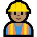 Man Construction Worker: Medium Skin Tone on Microsoft Windows 10 October 2018 Update