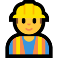 Man Construction Worker on Microsoft Windows 10 October 2018 Update