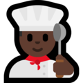 Man Cook: Dark Skin Tone on Microsoft Windows 10 October 2018 Update