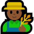 Man Farmer: Medium-Dark Skin Tone on Microsoft Windows 10 October 2018 Update