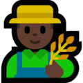 Man Farmer: Dark Skin Tone on Microsoft Windows 10 October 2018 Update