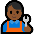 Man Mechanic: Medium-Dark Skin Tone on Microsoft Windows 10 October 2018 Update