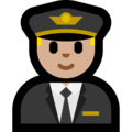 Man Pilot: Medium-Light Skin Tone on Microsoft Windows 10 October 2018 Update