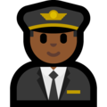 Man Pilot: Medium-Dark Skin Tone on Microsoft Windows 10 October 2018 Update