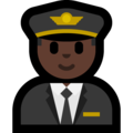 Man Pilot: Dark Skin Tone on Microsoft Windows 10 October 2018 Update