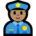 Man Police Officer: Medium Skin Tone on Microsoft Windows 10 October 2018 Update