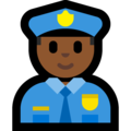 Man Police Officer: Medium-Dark Skin Tone on Microsoft Windows 10 October 2018 Update