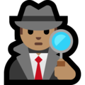 Man Detective: Medium Skin Tone on Microsoft Windows 10 October 2018 Update