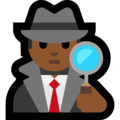 Man Detective: Medium-Dark Skin Tone on Microsoft Windows 10 October 2018 Update
