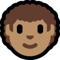 Man: Medium Skin Tone, Curly Hair on Microsoft Windows 10 October 2018 Update