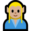 Man Elf: Medium-Light Skin Tone on Microsoft Windows 10 October 2018 Update