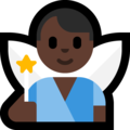 Man Fairy: Dark Skin Tone on Microsoft Windows 10 October 2018 Update