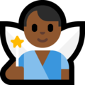 Man Fairy: Medium-Dark Skin Tone on Microsoft Windows 10 October 2018 Update