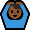 Man Gesturing OK: Medium-Dark Skin Tone on Microsoft Windows 10 October 2018 Update