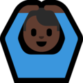 Man Gesturing OK: Dark Skin Tone on Microsoft Windows 10 October 2018 Update