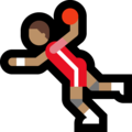 Man Playing Handball: Medium Skin Tone on Microsoft Windows 10 October 2018 Update