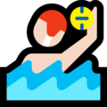 Man Playing Water Polo: Light Skin Tone on Microsoft Windows 10 October 2018 Update