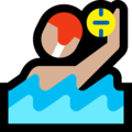 Man Playing Water Polo: Medium-Light Skin Tone on Microsoft Windows 10 October 2018 Update
