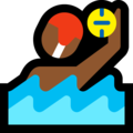 Man Playing Water Polo: Medium-Dark Skin Tone on Microsoft Windows 10 October 2018 Update
