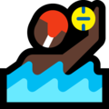 Man Playing Water Polo: Dark Skin Tone on Microsoft Windows 10 October 2018 Update