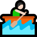 Man Rowing Boat: Light Skin Tone on Microsoft Windows 10 October 2018 Update