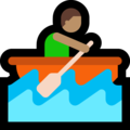 Man Rowing Boat: Medium Skin Tone on Microsoft Windows 10 October 2018 Update