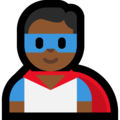 Man Superhero: Medium-Dark Skin Tone on Microsoft Windows 10 October 2018 Update