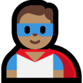 Man Superhero: Medium Skin Tone on Microsoft Windows 10 October 2018 Update