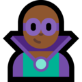 Man Supervillain: Medium-Dark Skin Tone on Microsoft Windows 10 October 2018 Update
