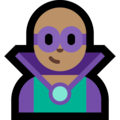 Man Supervillain: Medium Skin Tone on Microsoft Windows 10 October 2018 Update
