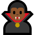 Man Vampire: Medium-Dark Skin Tone on Microsoft Windows 10 October 2018 Update