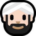 Man Wearing Turban: Light Skin Tone on Microsoft Windows 10 October 2018 Update