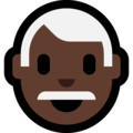 Man: Dark Skin Tone, White Hair on Microsoft Windows 10 October 2018 Update