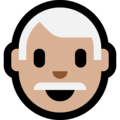 Man: Medium-Light Skin Tone, White Hair on Microsoft Windows 10 October 2018 Update