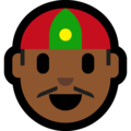 Man With Chinese Cap: Medium-Dark Skin Tone on Microsoft Windows 10 October 2018 Update