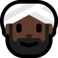Person Wearing Turban: Dark Skin Tone on Microsoft Windows 10 October 2018 Update