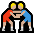 Men Wrestling, Type-3 on Microsoft Windows 10 October 2018 Update