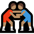 Men Wrestling, Type-4 on Microsoft Windows 10 October 2018 Update