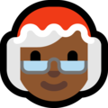 Mrs. Claus: Medium-Dark Skin Tone on Microsoft Windows 10 October 2018 Update