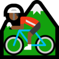 Person Mountain Biking: Medium-Dark Skin Tone on Microsoft Windows 10 October 2018 Update