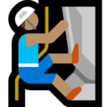 Person Climbing: Medium Skin Tone on Microsoft Windows 10 October 2018 Update