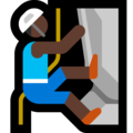 Person Climbing: Dark Skin Tone on Microsoft Windows 10 October 2018 Update